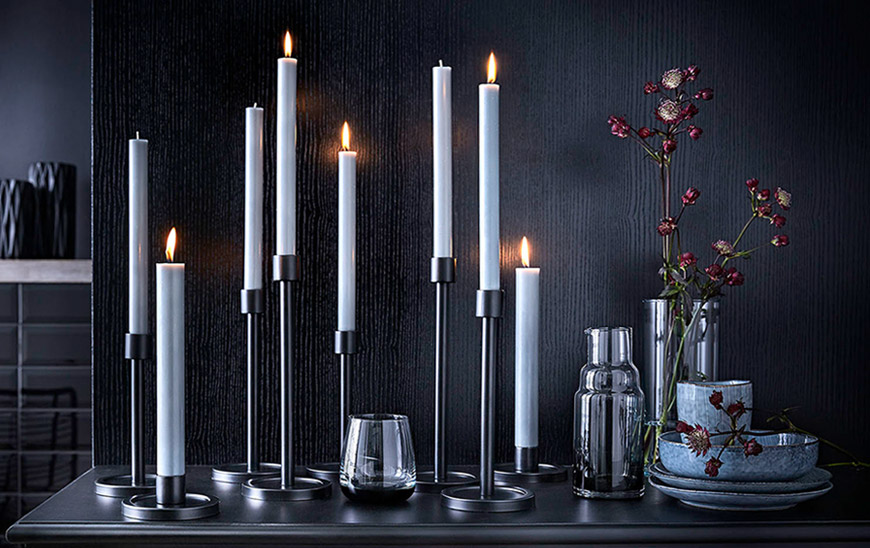 Engels Kerzen Stumpenkerze 15cm gegossen durchgefärbt lange Brenndauer Burgunder